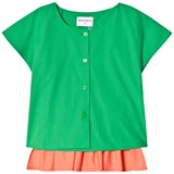Wolf & Rita Coral and Green Colour Block Blouse