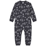 Scamp & Dude Grey Slogan Print Baby Grow