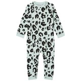 Scamp & Dude Green Leopard Print Baby Grow