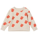 Tinycottons Stone and Carmine Ice Cream Pot Sweater