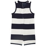 Tinycottons Off-White and Navy Big Striped