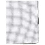 Tinycottons White and Navy Grid Swaddle Cloth