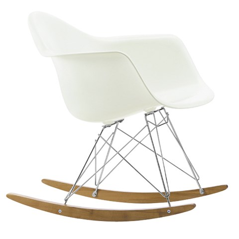 Vitra White Rocking Chair