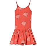 The Animals Observatory Red Shells Mouse Kids Dress