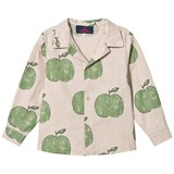 The Animals Observatory Beige Apple Motif Scorpion Kids Shirt