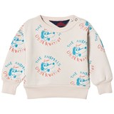 The Animals Observatory Beige Dogs Bear Baby Sweatshirt