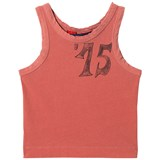 The Animals Observatory Red Fifteen Kids Frog Tank Top