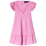 The Animals Observatory Fuchsia Dots Swallow Kids Dress