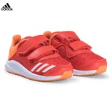 adidas Performance Red and Orange FortaRun Velcro Infant Trainers