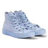 Converse Blue Chill Glitter All Star Junior Hi Tops