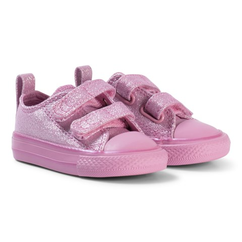 396fc86faefc0c Converse Pink Glitter All Star 2V OX Infants Trainers