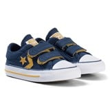 Converse Navy and Yellow Star Player EV 2V OX Infants Trainers