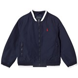 Ralph Lauren Navy Cotton Varsity Jacket