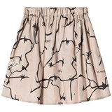 Wolf & Rita Beige Printed This Is Now Skirt