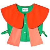 Wolf & Rita Coral And Green Collar Blouse