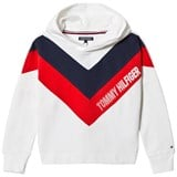 Tommy Hilfiger White Alert Colourblock Branded Hoodie