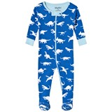 Hatley Blue Dinosaur Menagerie Mini Footed Coverall