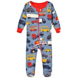 Hatley Blue Rush Hour Mini Footed Coverall