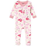 Hatley Cream Pink Dancing Swans Mini Footed Coverall
