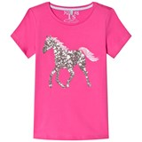 Joules Pink Sequin Horse Jersey Tee