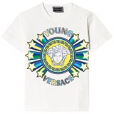 Young Versace White Star Medusa Tee