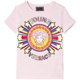 Young Versace Pink Star Medusa Print Branded Tee
