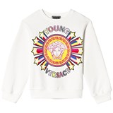 Young Versace White Star Medusa Crew Sweater
