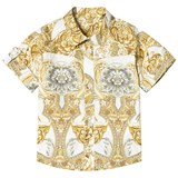 Young Versace White Baroque Print Infants Shirt