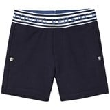 Young Versace Navy Branded Waist Infants Sweat Shorts