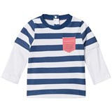 Sunuva Navy and White Stripe Paper Boat Rash Vest