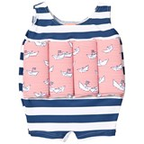 Sunuva Navy and White Stripe Paper Boat Float Suit