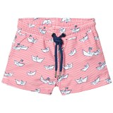 Sunuva Red Baby Boy Paper Boat Swim Shorts