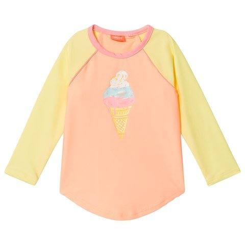 Sunuva Orange and Yellow Sorbet Stripe Rash Vest
