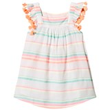 Sunuva Sorbet Stripe Girls Flutter Dress