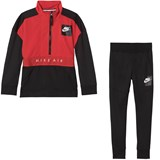 Nike Red and Black Nike Air Track Suit