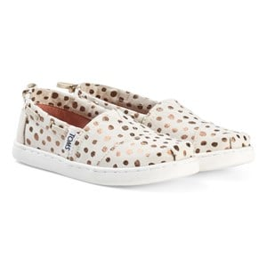 Toms Cream and Pink Espadrilles with Rose Gold Dots 37 (UK 4)
