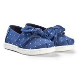Toms Blue Chambray Bow Espadrilles