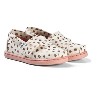 Toms Cream and Pink Espadrilles with Rose Gold Dots 24.5 (UK 7)