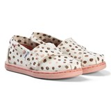 Toms Cream and Pink Espadrilles with Rose Gold Dots