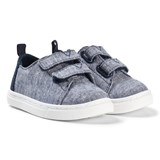 Toms Navy Chambray Velcro Trainers