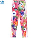 adidas Originals Pink Girls Flower Printed Leggings
