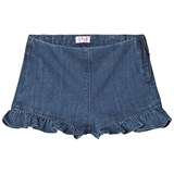 Il Gufo Blue Frill Detail Denim Shorts