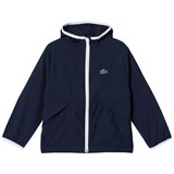 Lacoste Navy Hooded Lightweight Jacket