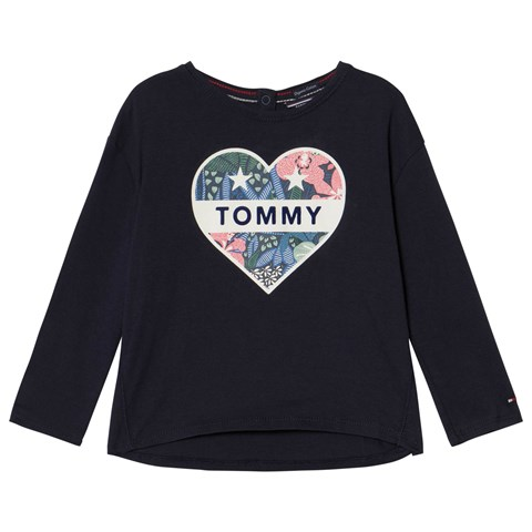 Tommy Hilfiger Navy Heart Branded T-Shirt