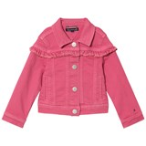 Tommy Hilfiger Pink Ruffle Denim Jacket