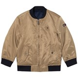 Tommy Hilfiger Beige Reversible into Navy Bomber Jacket