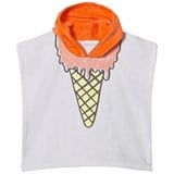 Stella McCartney Kids Purple Ice Cream Print Bobo Hooded Towel