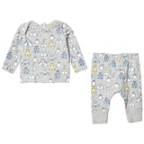 Stella McCartney Kids Grey All Over Print Buster Jersey Set
