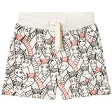 Stella McCartney Kids Cream Donkey All Over Print Cookie Shorts