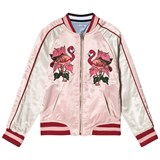 Guess Blue Embroidered Tiger Reversible into Pink Bomber Jacket